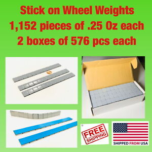 1 152 Pieces Of Tire Balancing Wheel Weights Stick on Adhesive 1 4 Oz 25