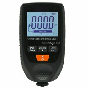 Car Paint Coating Thickness Gauge Paint Electroplate Metal Coating Tester Meter