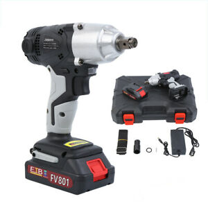 108vf 2000w Electric Cordless Impact Wrench Torque Drill Tool 12800mah Brushless