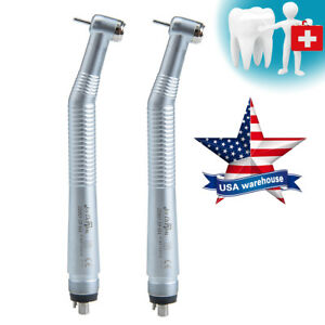 2pc Dental High Speed Handpiece Push Button Nsk Style Turbine Midwest 4 Hole Usa