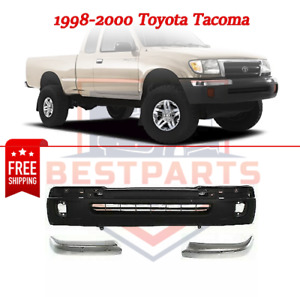 Front Bumper Cover Kit W Rh And Lh Bumper Ends For 1998 2000 Toyota Tacoma