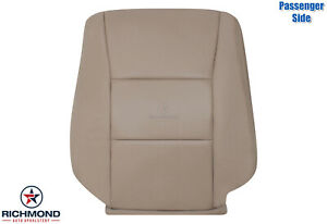 For 1999 2000 Toyota Landcruiser Passenger Side Lean Back Leather Seat Cover Tan
