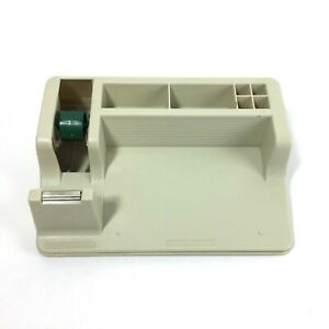 3m Post it Note Tape Pen Desktop Organizer With Weighted Base Vintage Beige Tan