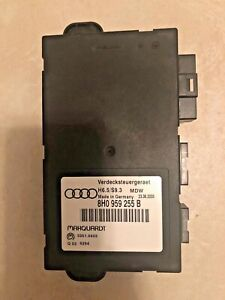 05 07 Audi A4 Cabriolet Convertible Top Computer Module 8h0 959 255 B