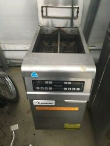 Frymaster Single Bay Dual Basket Deep Fryer Commercial Nat Gas W Electric Cont