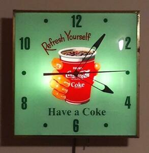 Coca Cola Clock Rare REFRESH YOURSELF