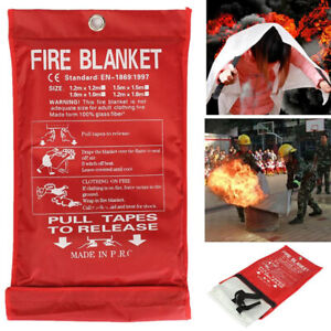 Emergency Fire Blanket Quick Release In Case For Home Office Fire Surival V7q0