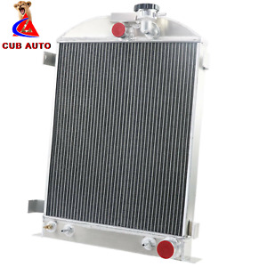 3 Row Aluminum Radiator For 1930 1938 Ford Model A Grille Shells Chevy Engine