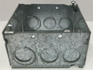 box Of 5 531711234 Stl cty Steel Square Electrical Box