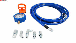 Fuel Pressure Tester Kit 100psi Mechanical For Universal Domestic Import Vehicle
