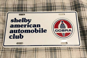 Vintage Shelby American Automobile Club License Plate Topper Ford Cobra 34