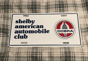 Vintage Shelby American Automobile Club License Plate Topper Ford Cobra 32