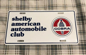 Vintage Shelby American Automobile Club License Plate Topper Ford Cobra 30