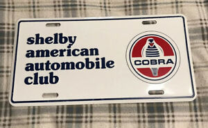Vintage Shelby American Automobile Club License Plate Topper Ford Cobra 28