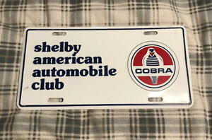 Vintage Shelby American Automobile Club License Plate Topper Ford Cobra 27