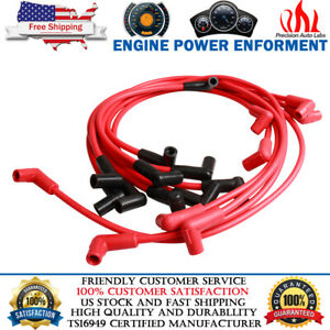 8mm Spark Plug Wire Set 4048 For Small Block Chevy 283 307 327 350 400 Hei Sbc