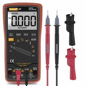 Auto Ranging Digital Multimeter Trms 6000 With Alligator Clips Test Leads Ac dc