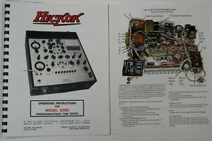 usa Hickok 539c Ultimate Tube Tester Manual W color Pictures Schematic