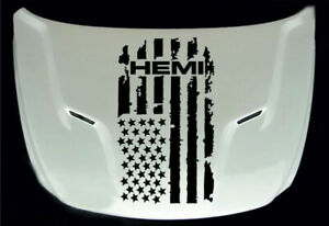 Dodge Ram Hemi 1x Sticker Hood Stripe Graphic Vinyl Hood Decal Sticker Logo