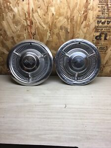 1960 Chevy Chevrolet Impala Wheel Covers 14 Hubcaps Checkered Flags Corvette