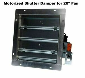 20 Fan Motorized Shutter Damper Flanged Frame Powered Louver Exhaust Intake