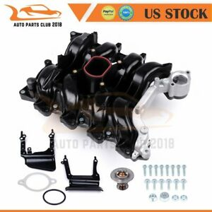 Intake Manifold With Gasket Thermostat O Rings Fits 98 00 Lincoln Mercury V8 4 6