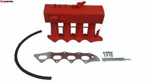 Red Intake Manifold For 94 00 Honda Civic Si B16a Acura Integra Type R B18c5