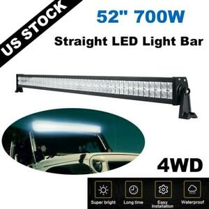 700w 52inch Led Light Bar Flood Spot Combo Truck Roof Driving 4wd Offroad 50 Us