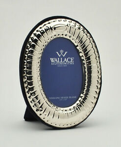 Wallace Sterling Silver Oval Photo Frame 3 1 2 X 2 3 4