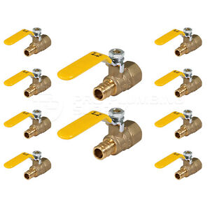 Pexflow Heavy Duty Full Port Pex Ball Valve With Fip X Pex Connection 10 Pack