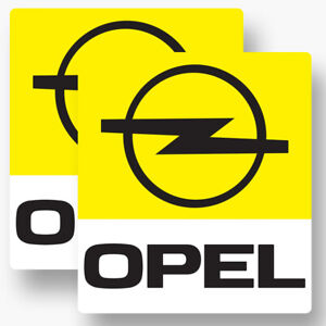 2x Opel Sticker Vinyl Decal Car Window Racing Race Corsa Astra Manta Premium
