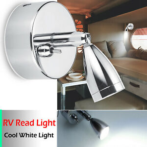 12v Flexible Led Reading Light Rv Caravan Camper Boat Wall Bedside Dimming Lamp