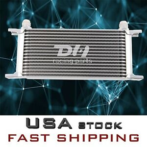 Silver 16 Row An 10an Universal Aluminum Engine Transmission Oil Cooler
