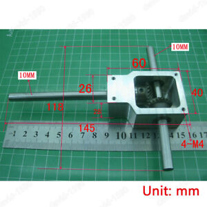 Diy 90 Right Angle Gearbox Speed Reducer Transmission Ratio 1 1 Shaft 10mm