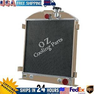 3 Row Aluminum Radiator For Ford Grill Shells Chopped Chevy Engine 1939 1940