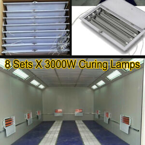 8 Sets X 3kw Spray baking Booth Infrared Paint Curing Lamp Heating Lights Heater