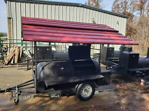 Pitmaster Boss Roof Bbq Smoker Grill Trailer Firewood Storage Mobile Food Truck