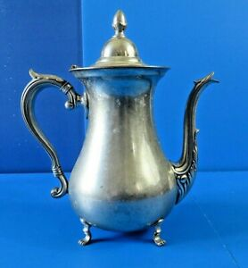 Vintage Silver Plated 9 5 Tall Tea Pot