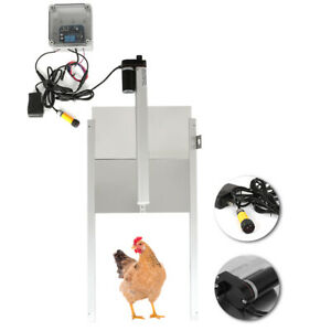 Chick Safe Automatic Chicken Coop Door Opener With Light Sensor Remote Control