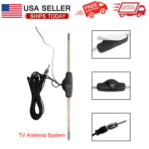 Universal Stereo Am Fm Hidden Amplified Antenna For Car Truck Harley Motorcycle