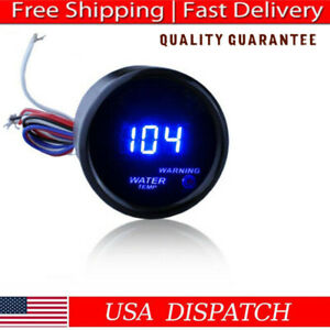 2inch 52mm Car Digital Led Water Temp Temperature Fahrenheit F Meter Gauge