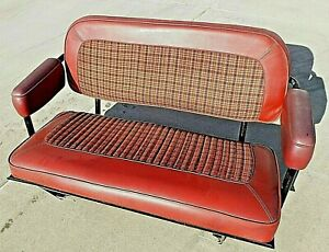1966 1977 Early Ford Bronco Rear Seat Red Good Condition