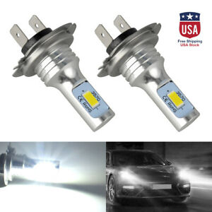 2pcs H7 Led Car Headlight Conversion Globes Canbus Bulbs High Low Beam 6000k Kit