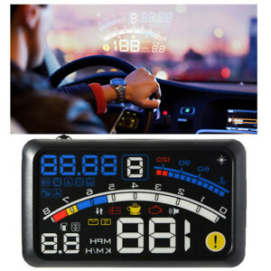 5 5 Universal Obd2 Car Gps Hud Head Up Display Overspeed Warning System_aus