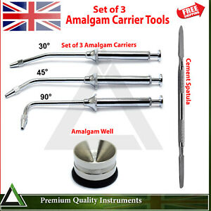 Dental Amalgam Carrier Guns Mixing Pot Cement Spatula Lab Cavity Filling Tools