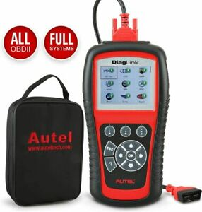 Autel Diaglink Obd2 Car Read Clear Codes Live Data All System Diagnostic Scanner