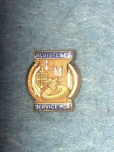 1940 s 50 s Lincoln Mercury Factory Dealer Service Pin 10k Gold Cosmopolitan