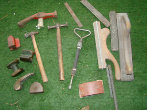 Lot Of Vintage Auto Body Hammers Dollies Sander Rasp Tools Etc