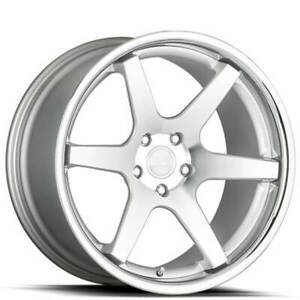 4 20 Staggered Concept One Wheels Cs6 Concave Silver Rims b1
