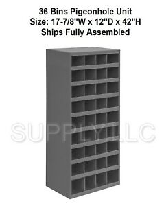 Steel Bin Shelving 36 Pigeonhole Compartments Parts Fittings Nut Bolt Storage